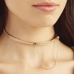 Eddie Borgo micro pave gold safety chain choker